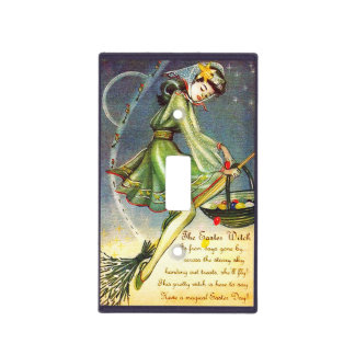 Falln Easter Witch Light Switch Cover