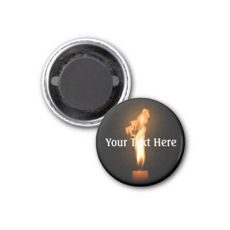 Falln Fire 1 Inch Round Magnet