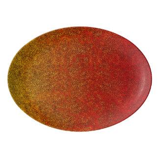 Falln Flame Glitter Gradient Porcelain Serving Platter