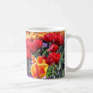 Falln Floral Crimson Waves Coffee Mug