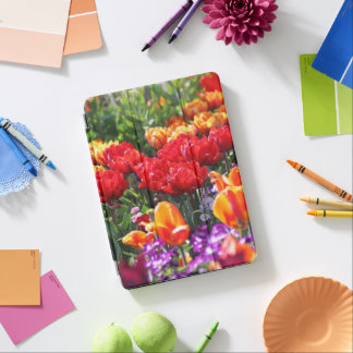 Falln Floral Crimson Waves iPad Air Cover
