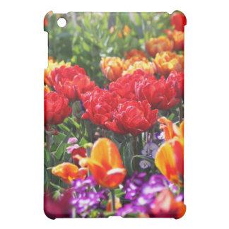 Falln Floral Crimson Waves iPad Mini Cases