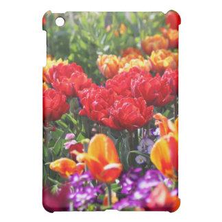 Falln Floral Crimson Waves iPad Mini Cover