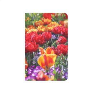 Falln Floral Crimson Waves Journal