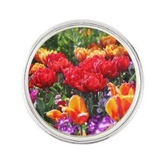 Falln Floral Crimson Waves Lapel Pin