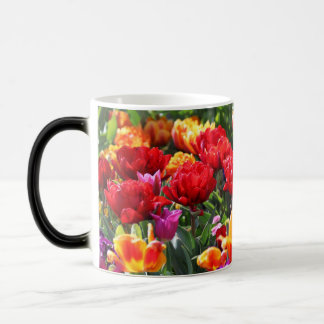 Falln Floral Crimson Waves Magic Mug