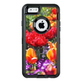 Falln Floral Crimson Waves OtterBox Defender iPhone Case