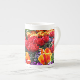Falln Floral Crimson Waves Tea Cup