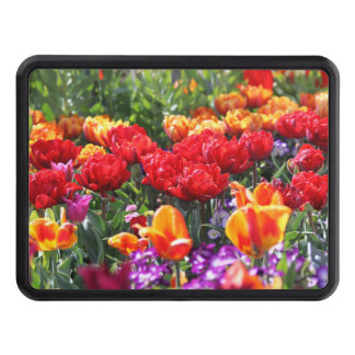 Falln Floral Crimson Waves Trailer Hitch Cover