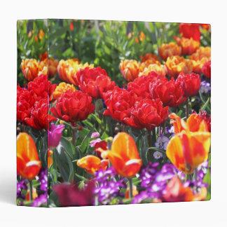 Falln Floral Crimson Waves Vinyl Binder