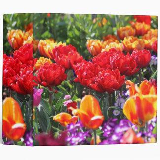 Falln Floral Crimson Waves Vinyl Binders