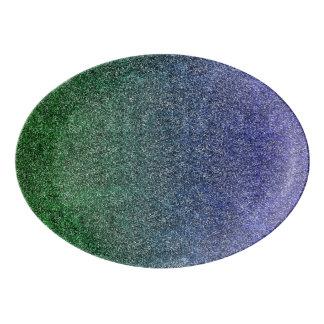 Falln Forest Nightfall Glitter Gradient Porcelain Serving Platter