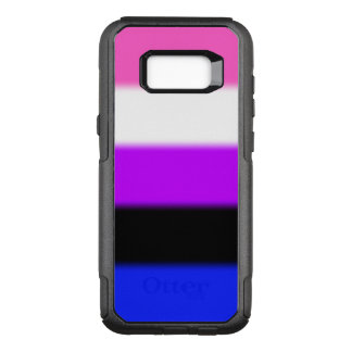 Falln Genderfluid Pride Flag OtterBox Commuter Samsung Galaxy S8+ Case