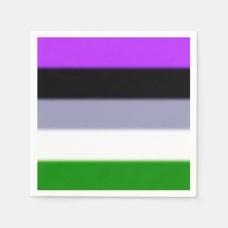 Falln Genderqueer Pride Flag Disposable Napkin