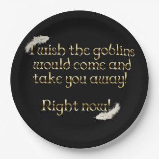 Falln Goblins Take You Away Paper Plate