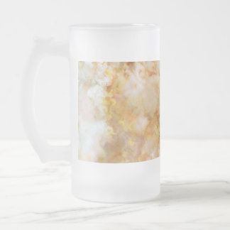 Falln Gold Rippled Marble Frosted Glass Beer Mug