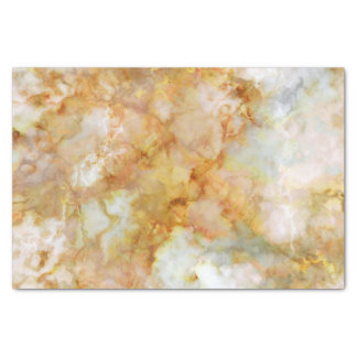 Falln Gold Rippled Marble Tissue Paper