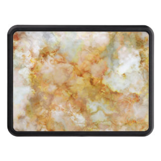 Falln Gold Rippled Marble Trailer Hitch Cover
