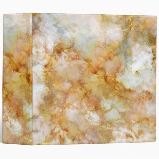 Falln Gold Rippled Marble Vinyl Binder