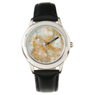 Falln Gold Rippled Marble Wristwatches