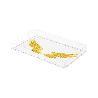 Falln Golden Angel Wings Acrylic Tray