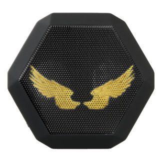 Falln Golden Angel Wings Black Bluetooth Speaker