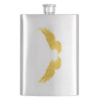Falln Golden Angel Wings Hip Flask
