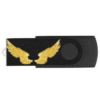 Falln Golden Angel Wings Swivel USB 3.0 Flash Drive