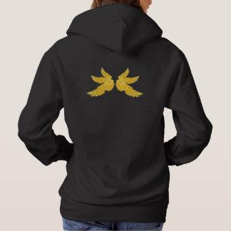 Falln Golden Archangel Wings Hoodie