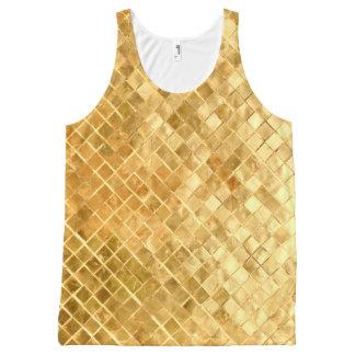 Falln Golden Checkerboard All-Over-Print Tank Top