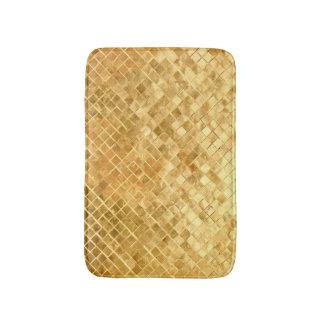 Falln Golden Checkerboard Bath Mat