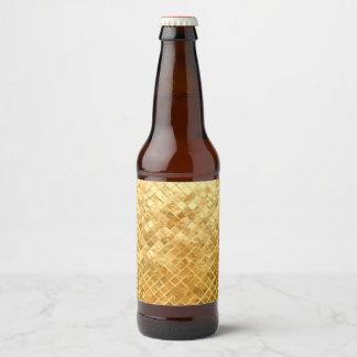 Falln Golden Checkerboard Beer Bottle Label