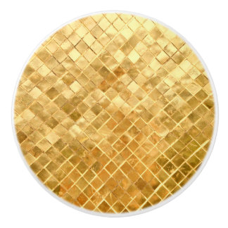 Falln Golden Checkerboard Ceramic Knob