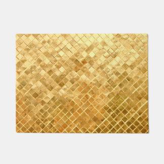 Falln Golden Checkerboard Doormat