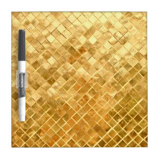 Falln Golden Checkerboard Dry Erase Board