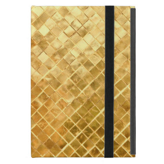 Falln Golden Checkerboard iPad Mini Cover
