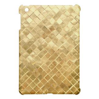 Falln Golden Checkerboard iPad Mini Cover
