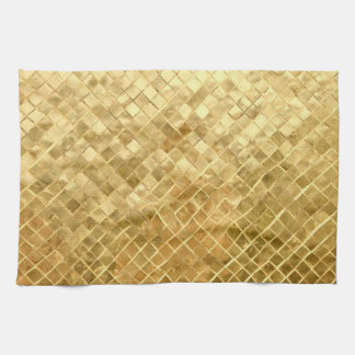 Falln Golden Checkerboard Kitchen Towel