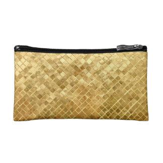 Falln Golden Checkerboard Makeup Bag