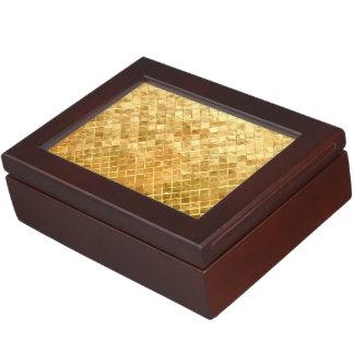 Falln Golden Checkerboard Memory Box