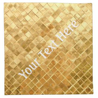Falln Golden Checkerboard Napkin