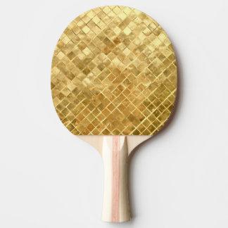 Falln Golden Checkerboard Ping Pong Paddle