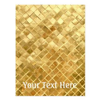 Falln Golden Checkerboard Postcard