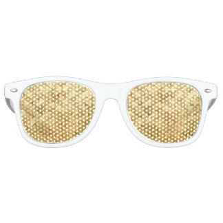 Falln Golden Checkerboard Retro Sunglasses