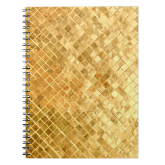 Falln Golden Checkerboard Spiral Notebook
