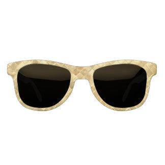 Falln Golden Checkerboard Sunglasses