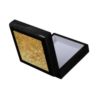 Falln Golden Checkerboard Trinket Box