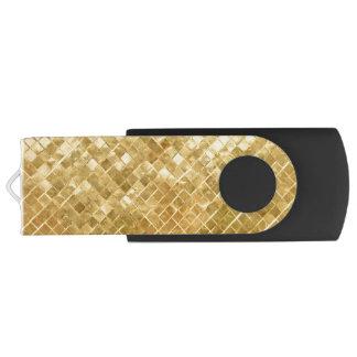 Falln Golden Checkerboard USB Flash Drive