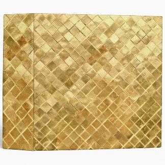 Falln Golden Checkerboard Vinyl Binders