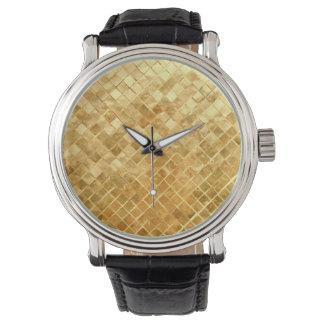 Falln Golden Checkerboard Watch
